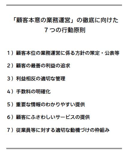 7つの行動原則